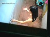 peeping chinese girl bath in home